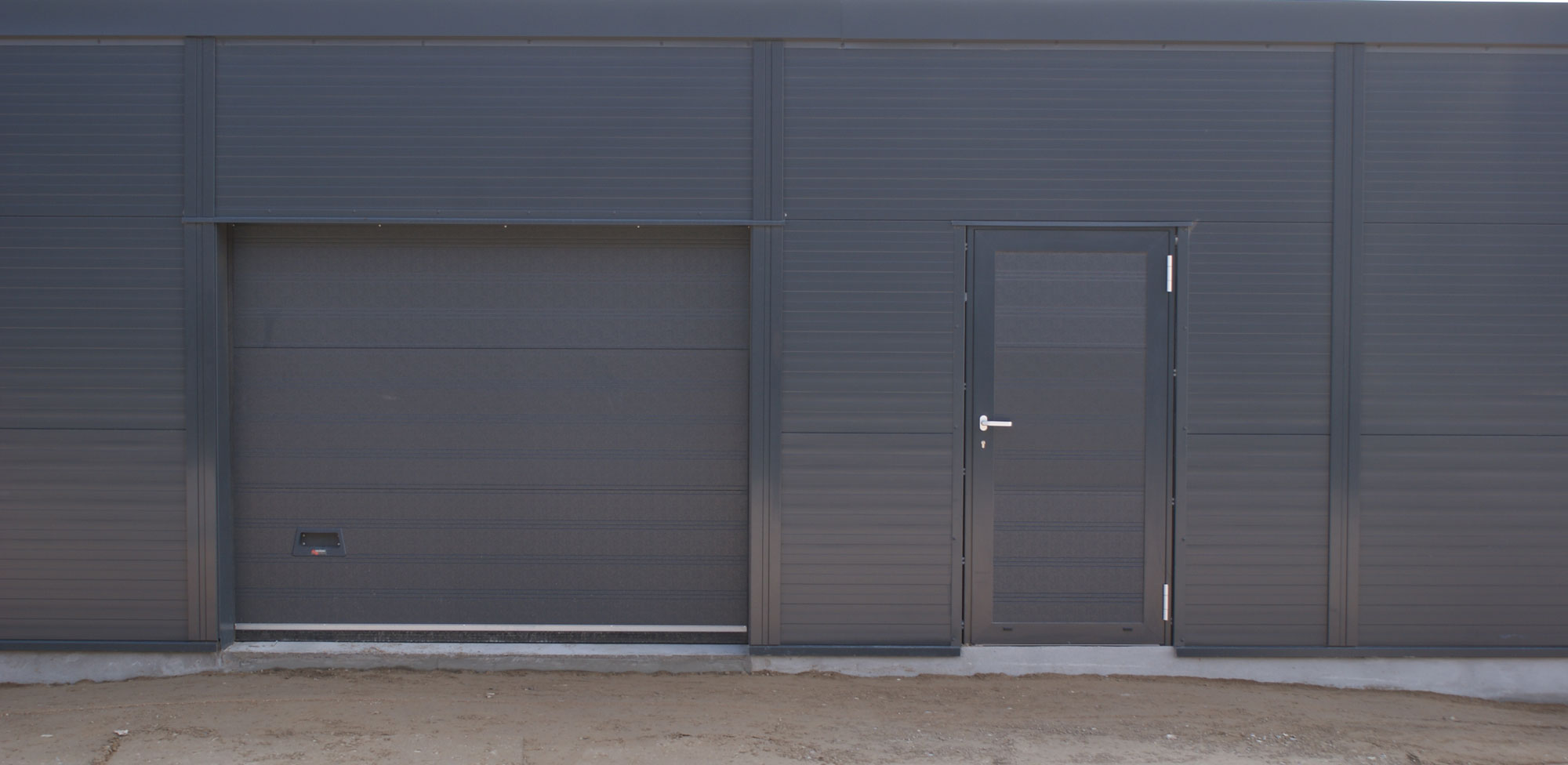 Aluminium separate facade door industrial doors