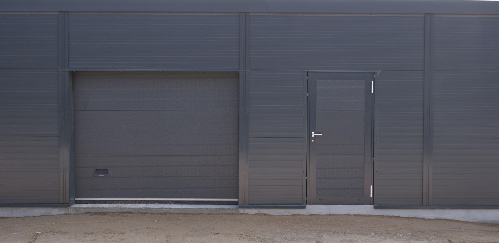 Aluminium separate facade door industrial doors