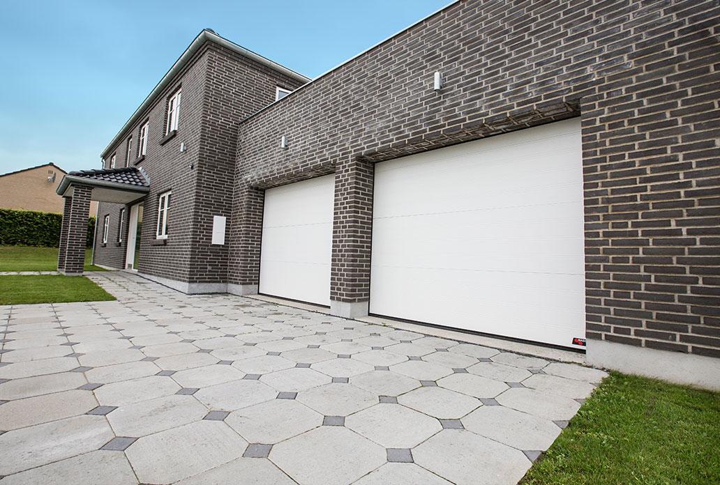 Double White NASSAU Garage Doors