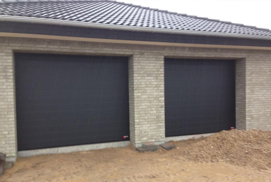 Double Black Granite Nau Softline Garage Doors