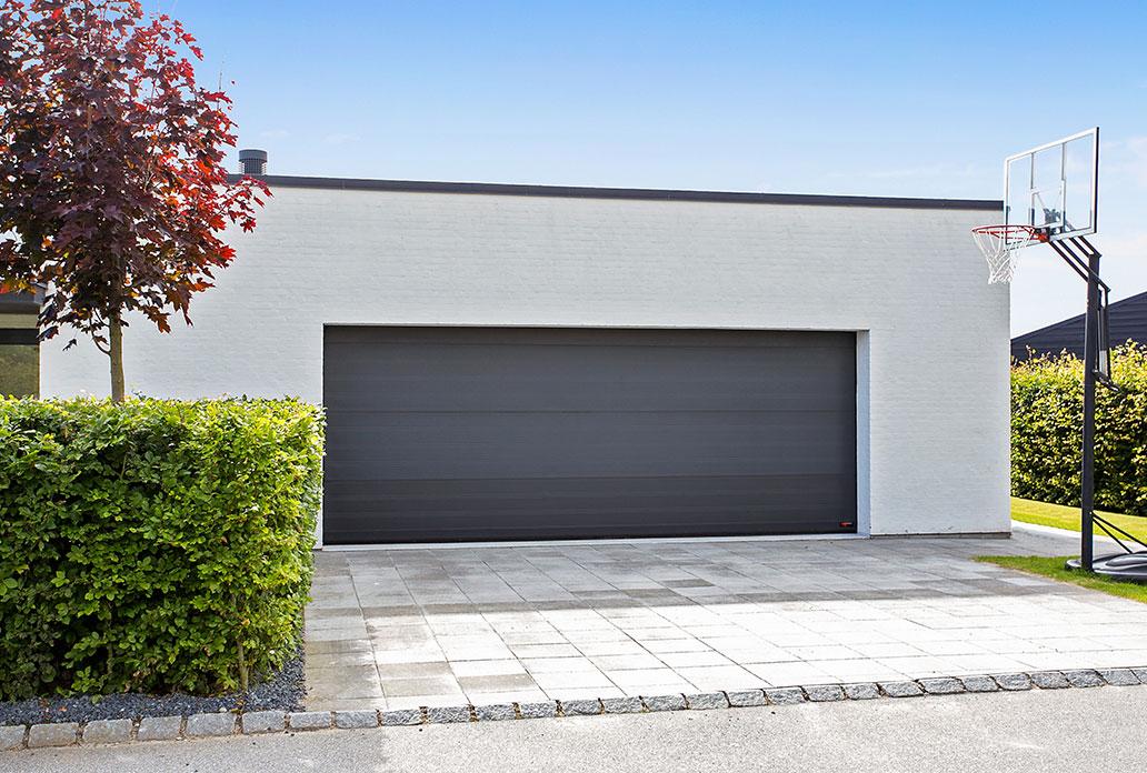 Anthracite Gray NASSAU Softline Garage Door