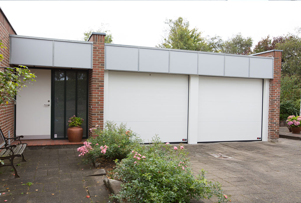 Double White Granite NASSAU Softline Garage Doors
