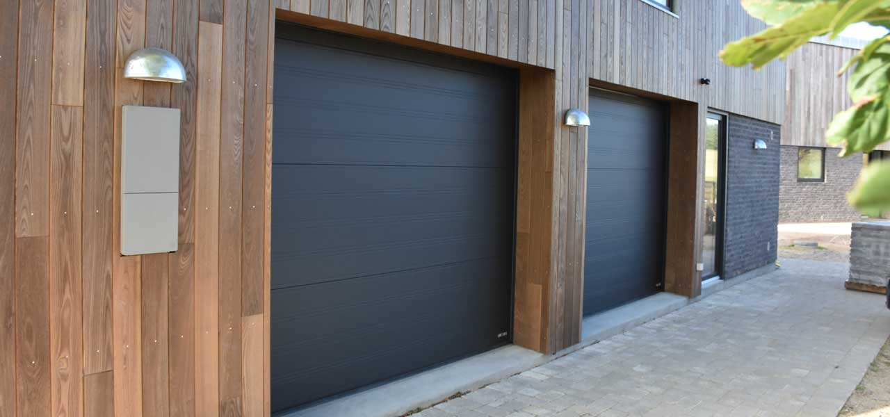 black softline granite garage door