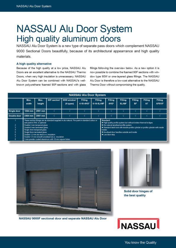 Aluminium separate facade doors brochure Eng