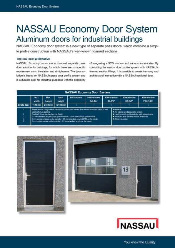 Economy separate facade doors brochure Eng