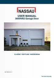 9000NRX garage door manual